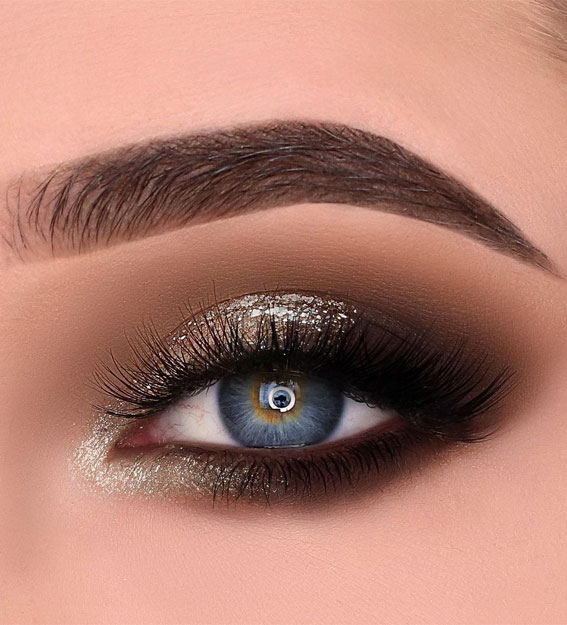 65 Pretty Eye Makeup Looks : Holiday eye makeup look