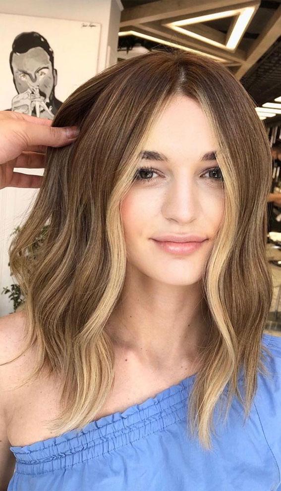 Cute Medium Length Haircuts & Hairstyles : Bronde lob haircut