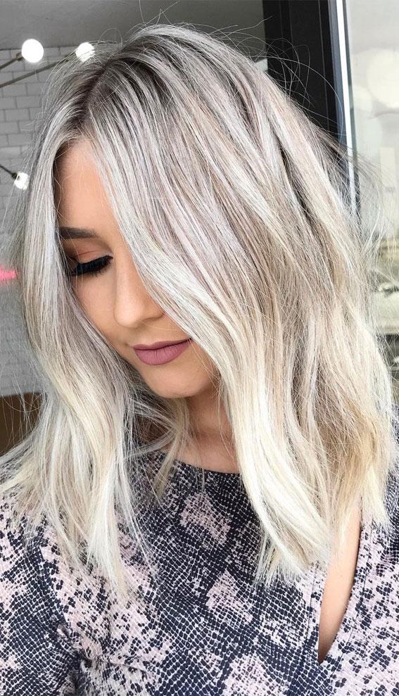 Cute Medium Length Haircuts & Hairstyles : Wavy lob haircut