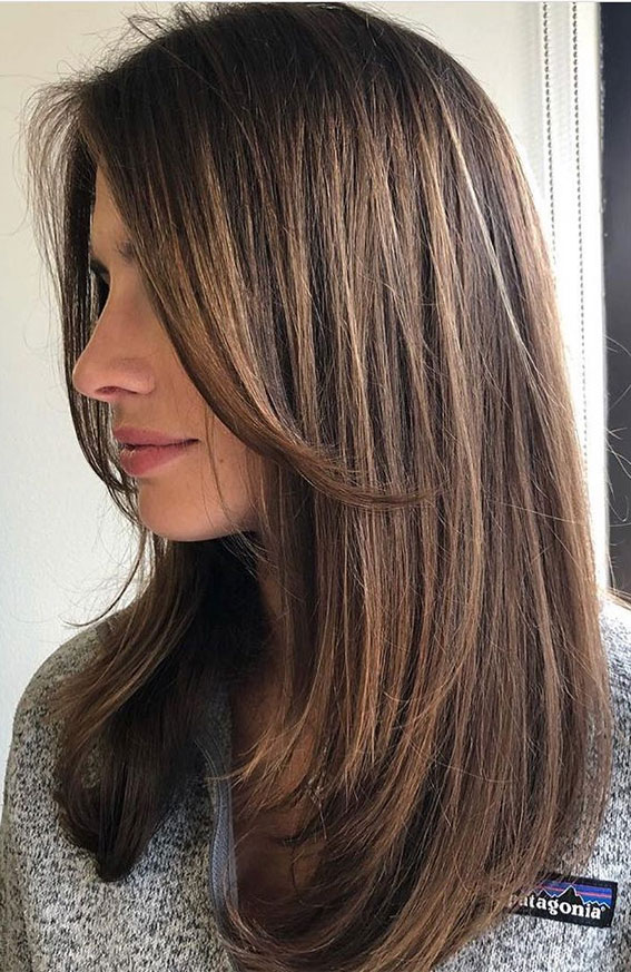 Cute Medium Length Haircuts Hairstyles Layered With Curtain Bang