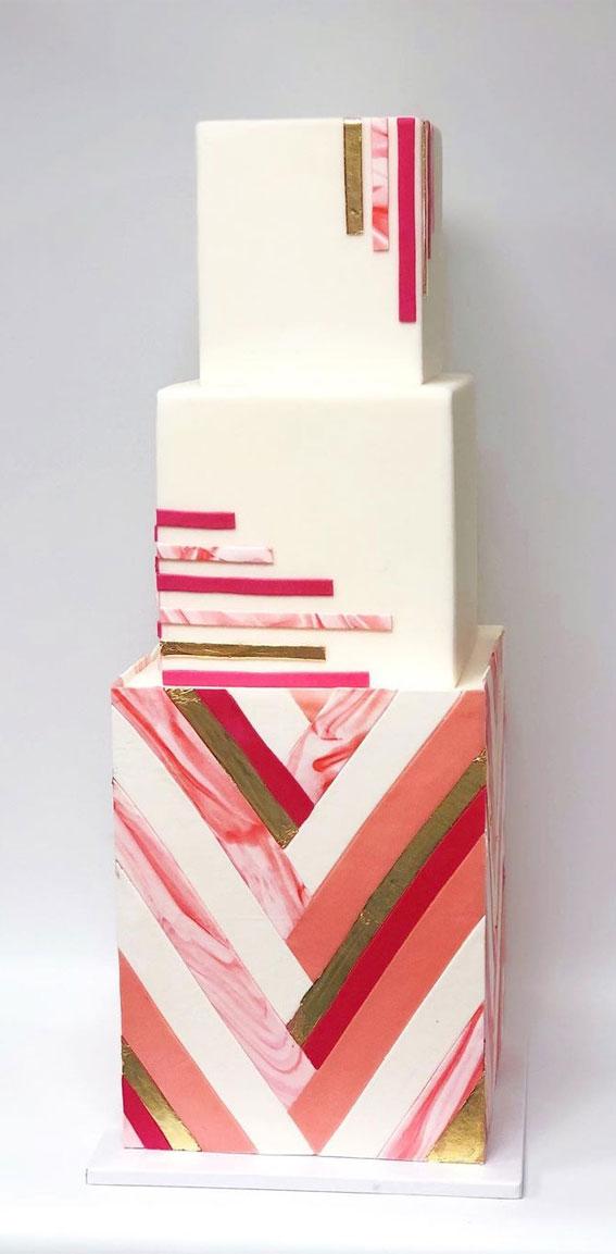41 Best Wedding Cake Styles For Your Big Day : Modern wedding cake