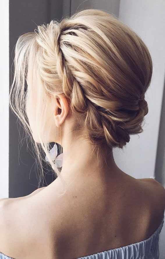 Trendiest Updos For Medium Length Hair To Inspire New Looks : Twisted crown updo