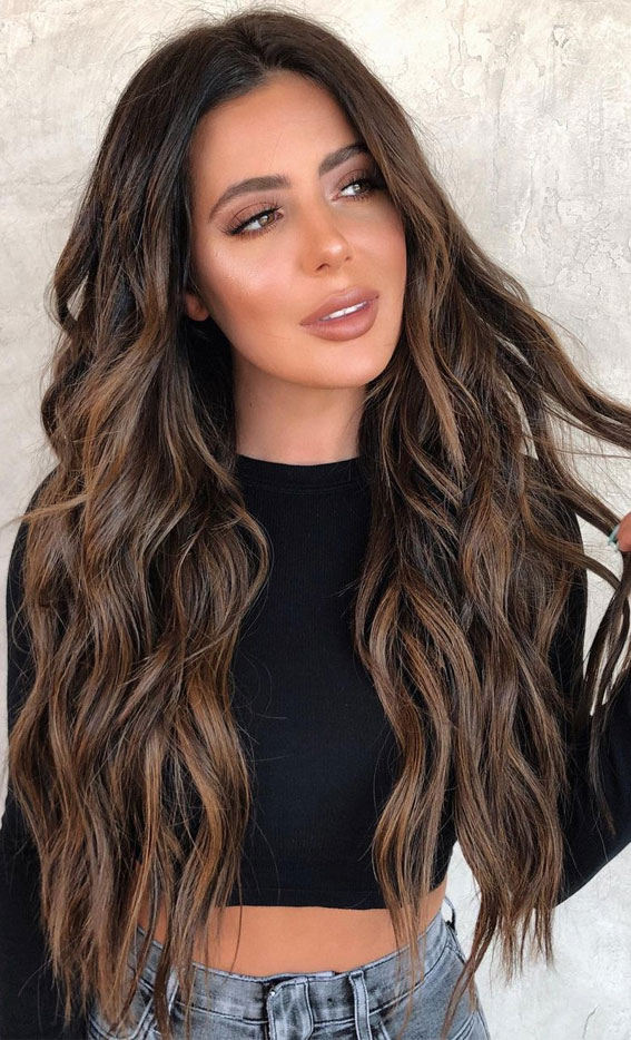 49+ Best Winter Hair Colours To Try In 2020 : Caramel Delight
