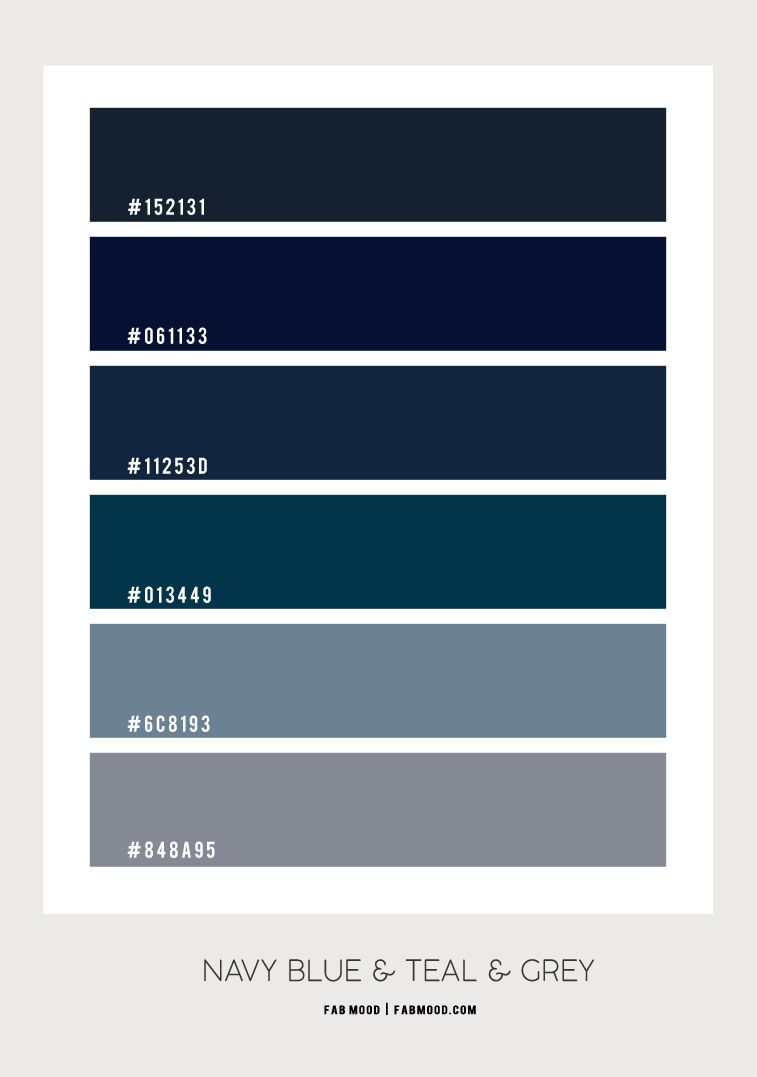 navy blue and grey color palette, navy blue and teal, color hex, navy blue and grey color combination, color scheme, color combos