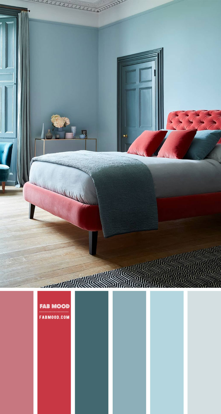 9 Best Bedrooms New Year's Resolution Ideas 2021 – Cinnamon Rose, Crimson and Duck Egg Blue