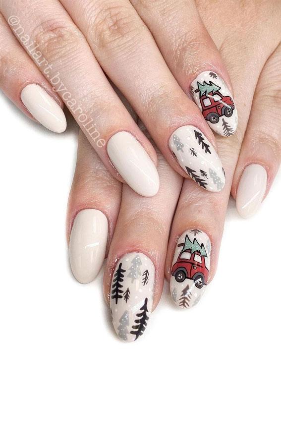 Pretty Festive Nail Colours & Designs 2020 : Fun festive nails