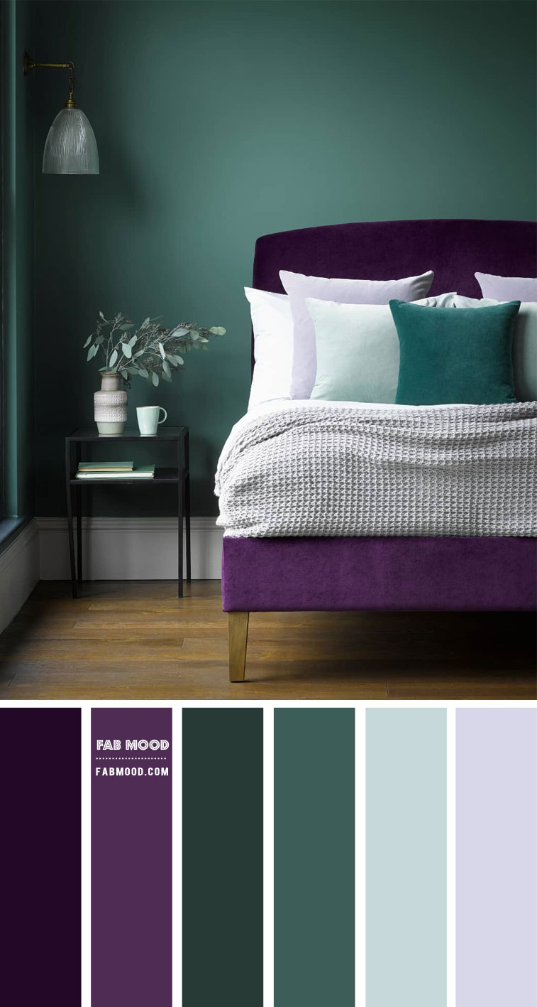 9 Best Bedrooms New Year's Resolution Ideas 2021 – Green and Purple Bedroom Colour Scheme