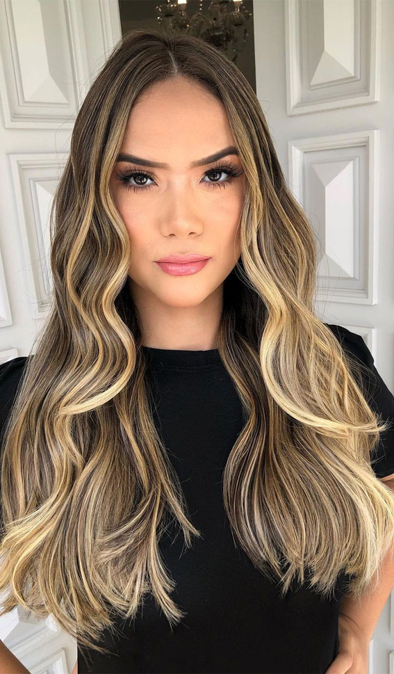 Gorgeous Hair Colour Trends For 2021 : Babylights Gold and Beige Tones