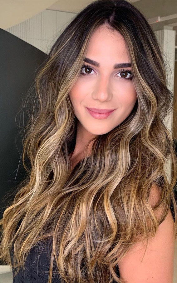 Gorgeous Hair Colour Trends For 2021 : Stylish illuminated brunette