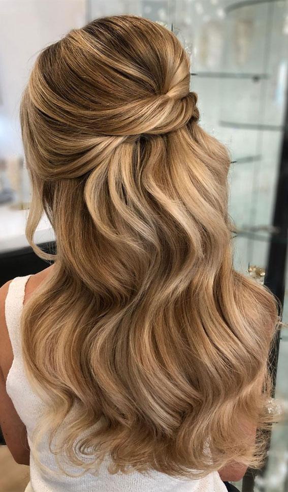 Trendy Half Up Half Down Hairstyles : Super Trendy Undone Half up & Volume
