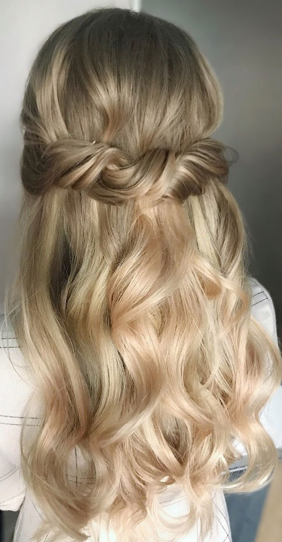 Trendy Half Up Half Down Hairstyles : Bun, Tousled & Twisted Half Up