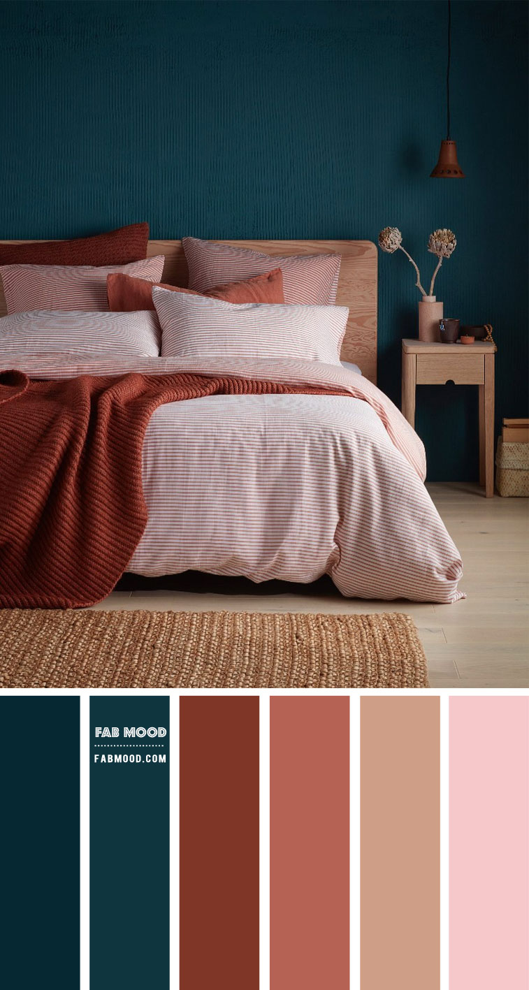 9 Best Bedrooms New Year's Resolution Ideas 2021 – Deep Ocean and Sienna Bedroom Colour Scheme
