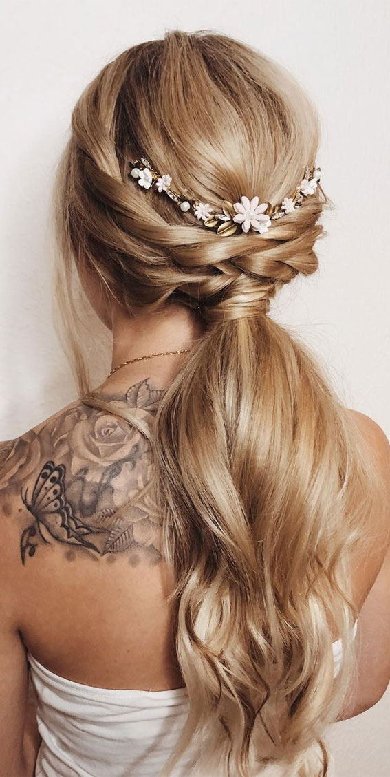 High and Low Ponytails For Any Occasion : Braided ponytail