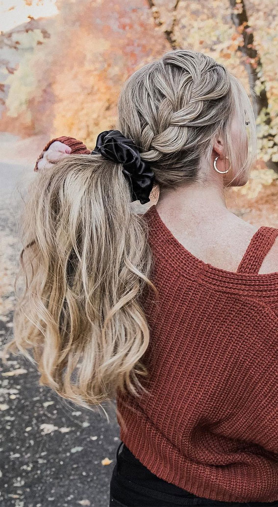 High and Low Ponytails For Any Occasion : French Braided Pony