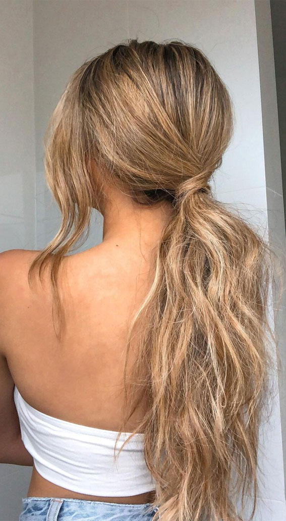 High and Low Ponytails For Any Occasion : Simple Ponytail