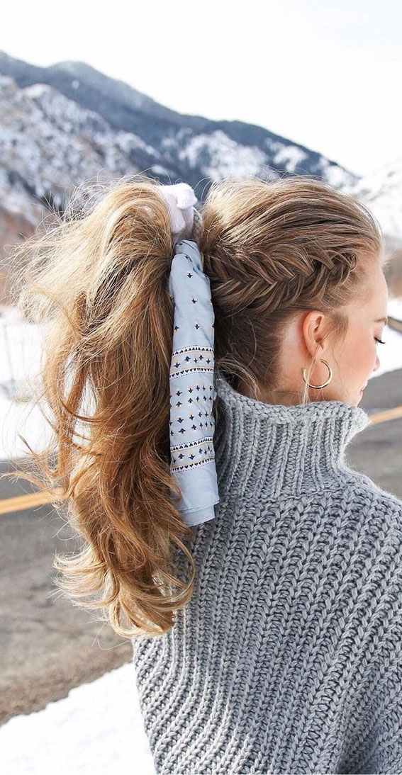 High And Low Ponytails For Any Occasion : Dutch Fishtail Ponytail