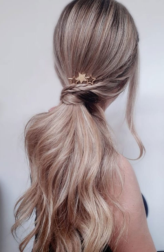 High And Low Ponytails For Any Occasion : Tiny braid on ponytail