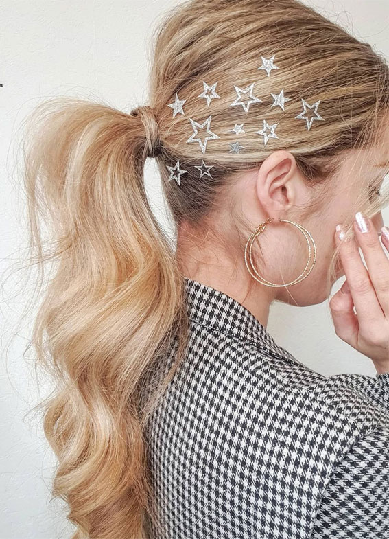 High and Low Ponytails For Any Occasion : Ponytail for New Year's Eve
