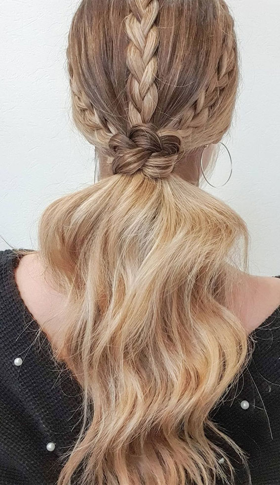 High and Low Ponytails For Any Occasion : Three Braids