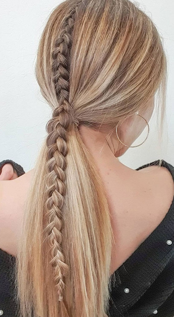 High and Low Ponytails For Any Occasion : Cute Braided Ponytail