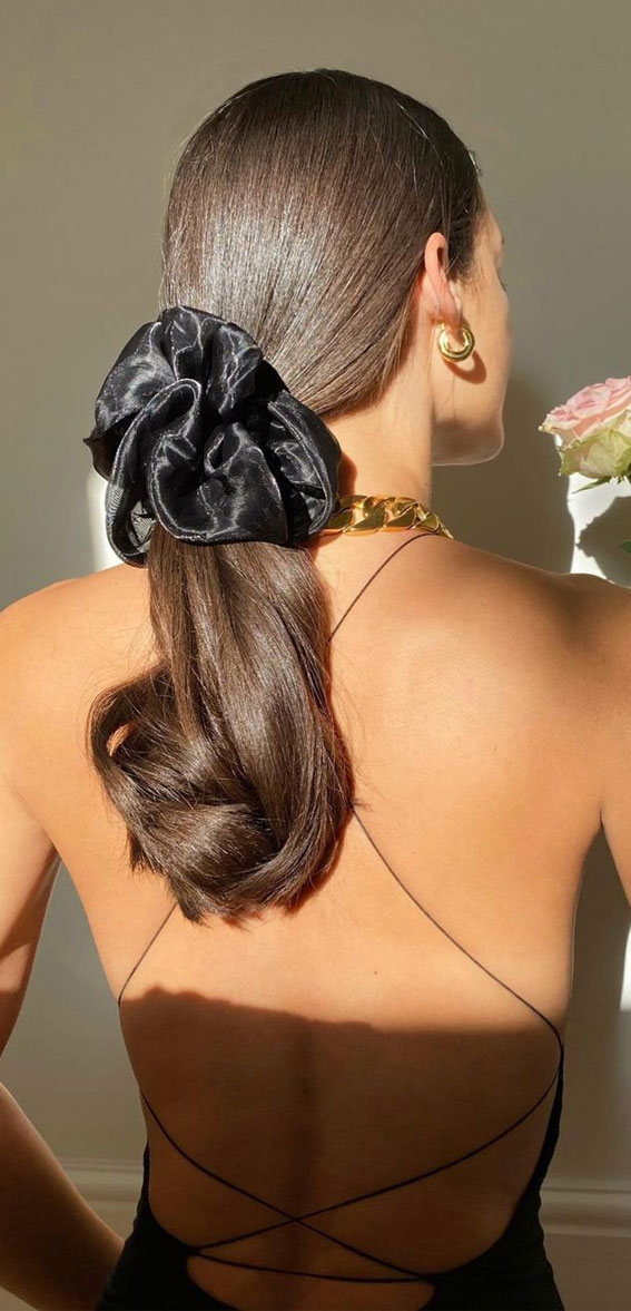High and Low Ponytails For Any Occasion : Scrunchie & Ponytail Hairstyle