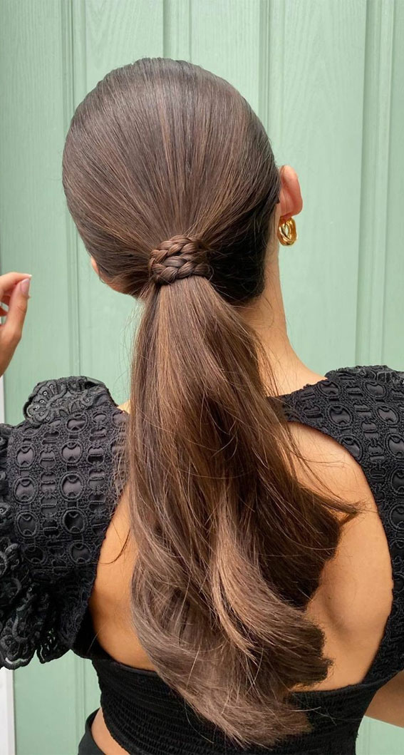 High and Low Ponytails For Any Occasion : Sleek Pony