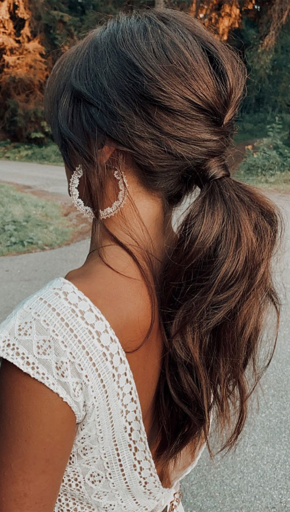 High and Low Ponytails For Any Occasion : Braided Low Ponytail