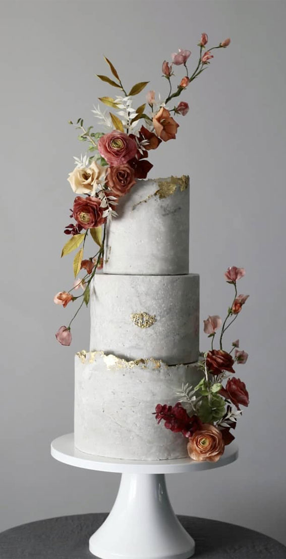 41 Best Wedding Cake Styles For Your Big Day : Concrete secret garden cake
