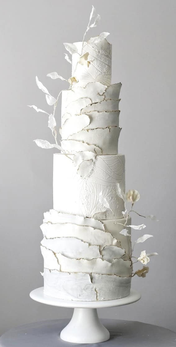 41 Best Wedding Cake Styles For Your Big Day : White wedding cake