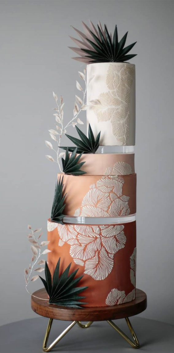 41 Best Wedding Cake Styles For Your Big Day : Terracotta wedding cake