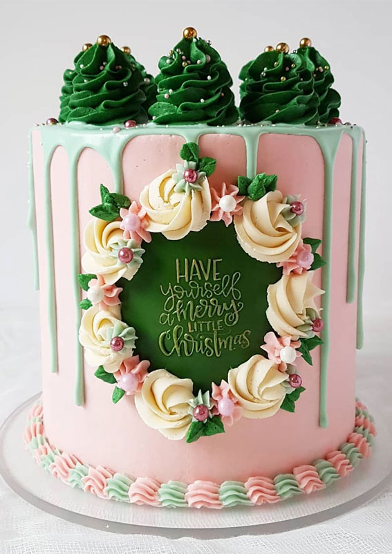 Winter Cake Ideas Must Try This Winter Season : Vintage and Country Christmas Cake