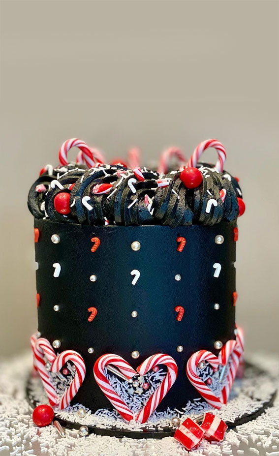 Winter Cake Ideas Must Try This Winter Season : Candy Cane Christmas Cake