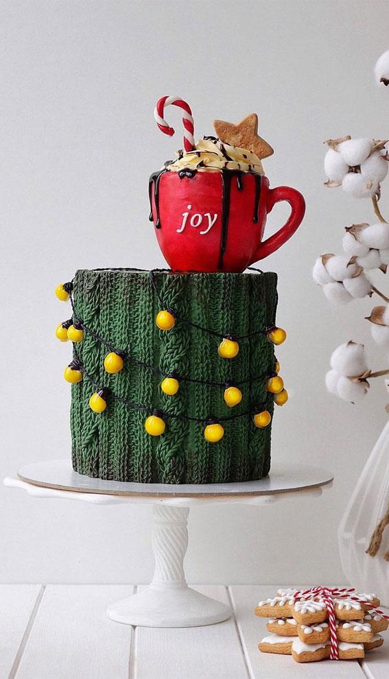 Winter Cake Ideas Must Try This Winter Season : Green Sweater Cake