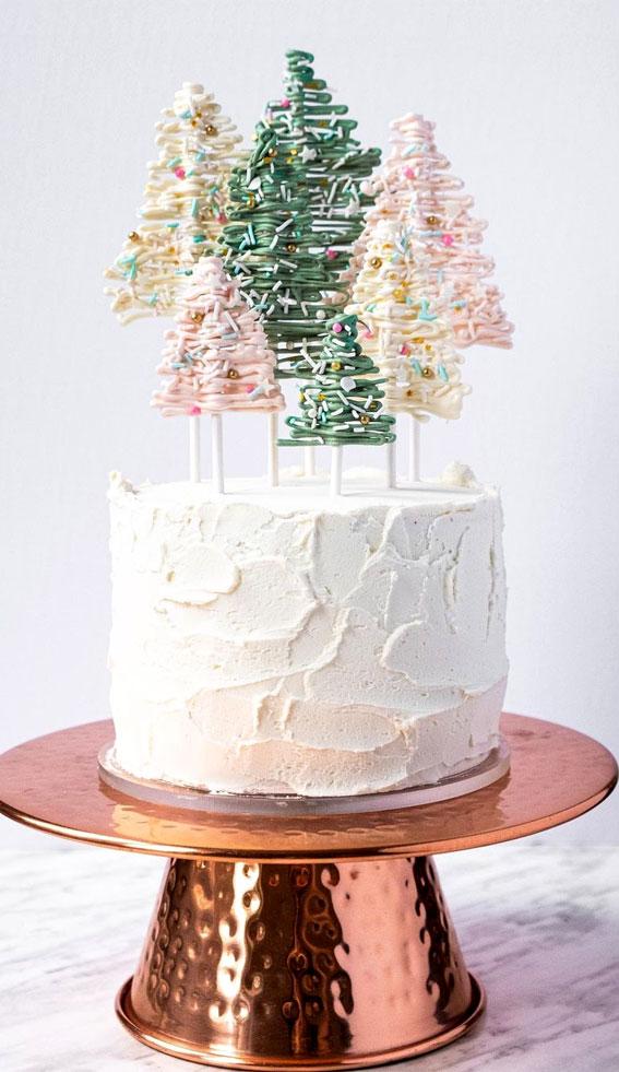 Winter Cake Ideas Must Try This Winter Season : Pretty Winter Wonderland Cake