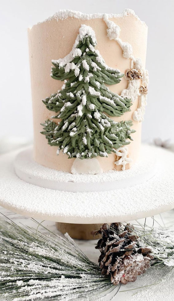 Winter Cake Ideas Must Try This Winter Season : Let It snow pretty Cake