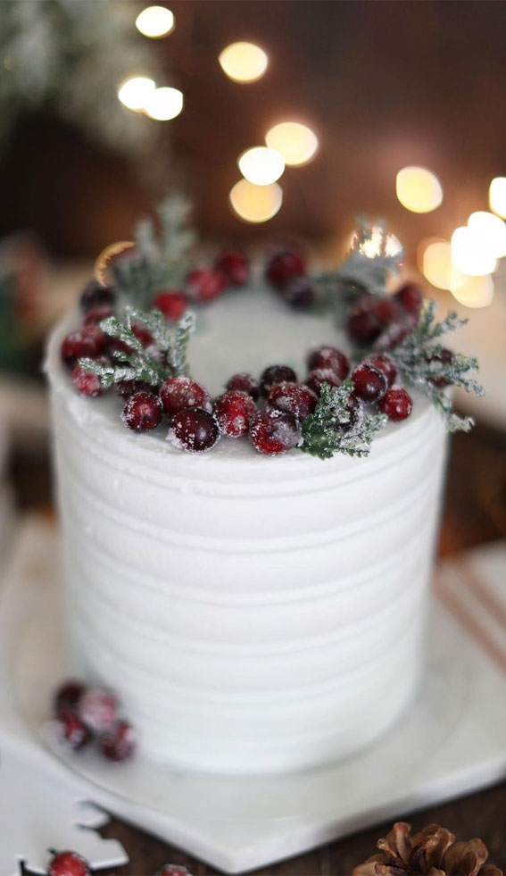 sugared cranberry winter cake, winter cake ideas, winter birthday cake ideas, winter cake decorating ideas, winter cake design, winter wedding cake ideas #wintercake #wintercakeideas winter cake flavors, winter themed cakes, warm winter cake #winterbirthdaycake