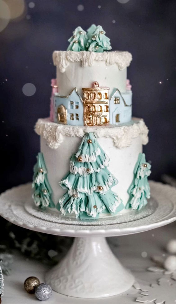 winter wonderland cake, winter cake ideas, winter birthday cake ideas, winter cake decorating ideas, winter cake design, winter wedding cake ideas #wintercake #wintercakeideas winter cake flavors, winter themed cakes, warm winter cake #winterbirthdaycake