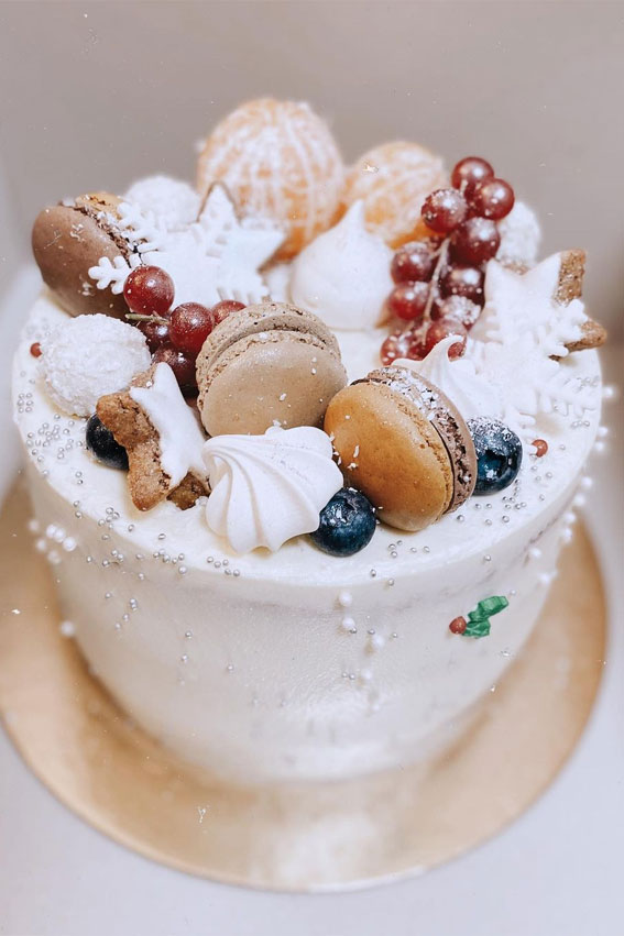 vanilla winter cake, winter cake ideas, winter birthday cake ideas, winter cake decorating ideas, winter cake design, winter wedding cake ideas #wintercake #wintercakeideas winter cake flavors, winter themed cakes, warm winter cake #winterbirthdaycake
