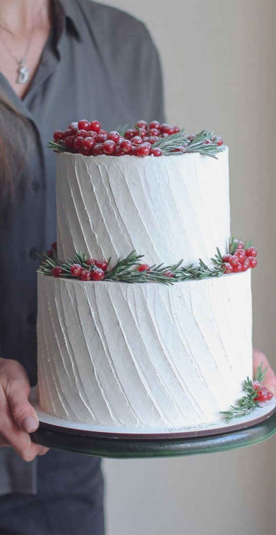 Winter Cake Ideas Must Try This​ Winter​ Season : Winter Cake With Berries