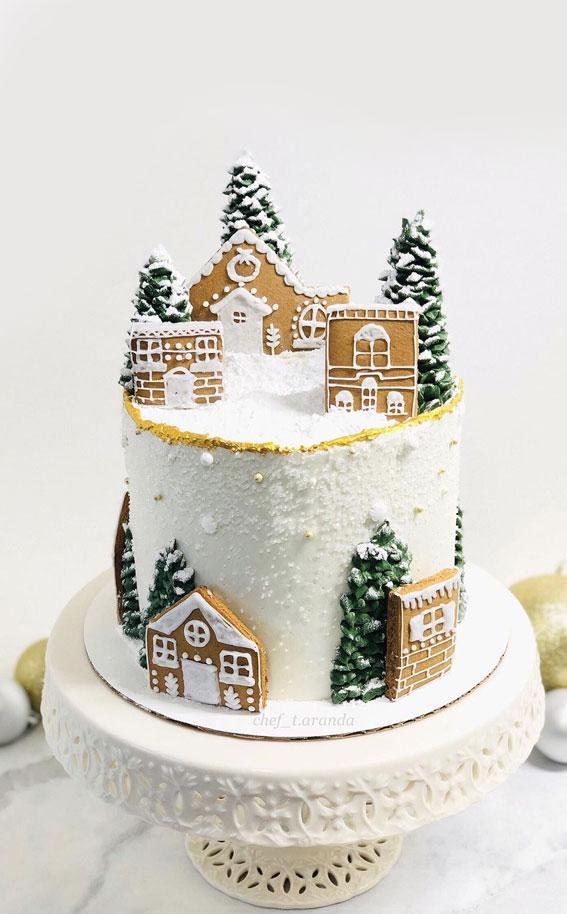 Winter Cake Ideas Must Try This Winter Season : Little Village Winter Wonderland Cake