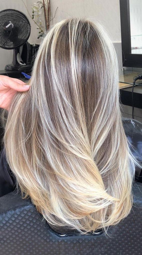 blonde hair color, blonde hair ideas, brown to blonde #haircolor #haircolour #haircolortrends
