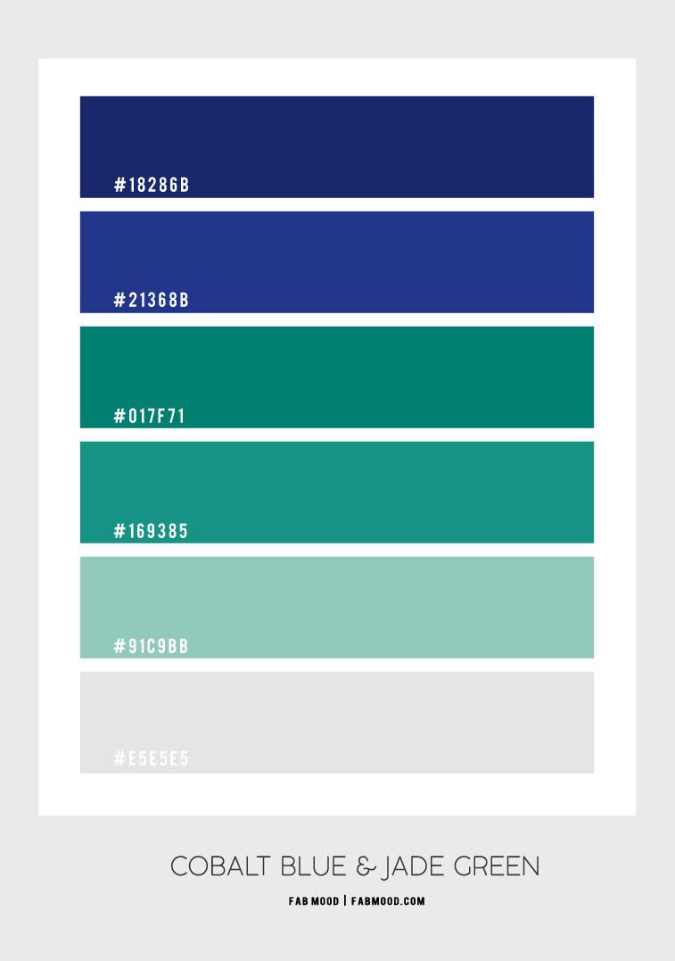 cobalt blue and jade green color scheme, cobalt blue and jade green, cobalt blue and jade green color palette, what color goes with cobalt blue, colors that go with jade green, what color goes with cobalt blue, jade green color hex, cobalt blue color combo, jade green color combination