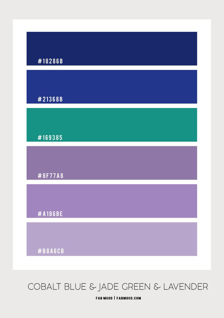 cobalt blue and jade green color scheme, cobalt blue and lavender, cobalt blue and jade green, cobalt blue and lavender color palette, what color goes with cobalt blue, colors that go with jade green, what color goes with lavender, jade green and lavender color hex, cobalt blue and lavender color combo, jade green and lavender color combination