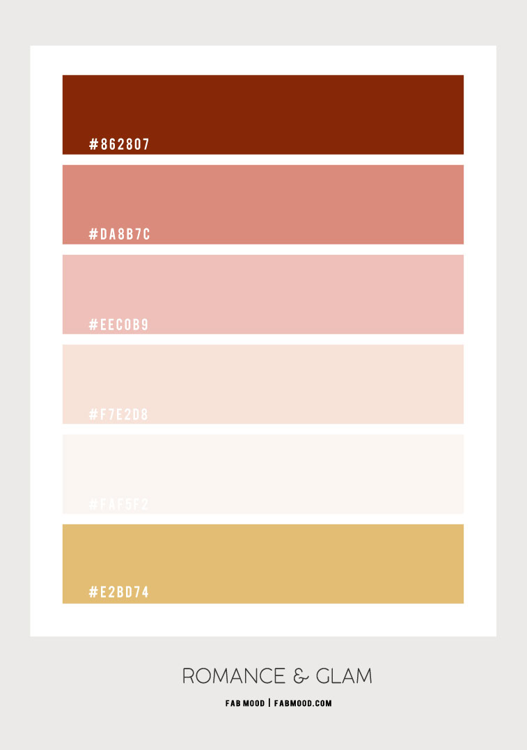 rust and peach color hex, color hex, blush and rust color hex, peach and rust color hex, peach and rust color combo