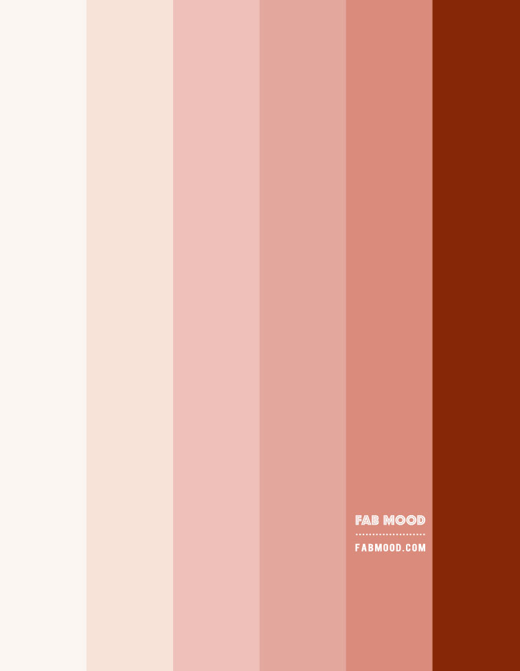 blush pink and rust color scheme, pink and rust color scheme, peach and rust color scheme, blush pink and peach colour scheme, peach, pink, rust colour, colour paltte