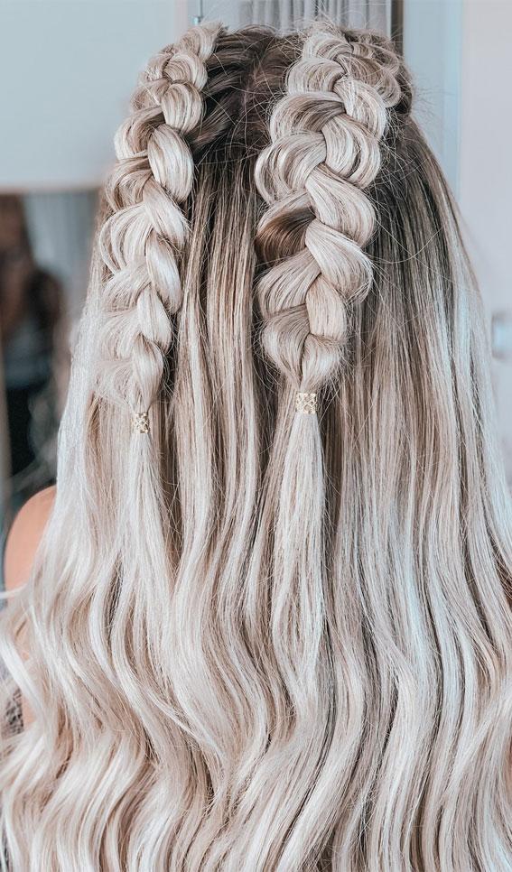 Cute braided hairstyles to rock this season : Cutest Dutch braid ponytail