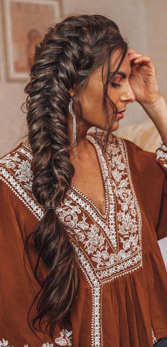 44 Beautiful Ways to Wear Braids This Season : Big messy braids