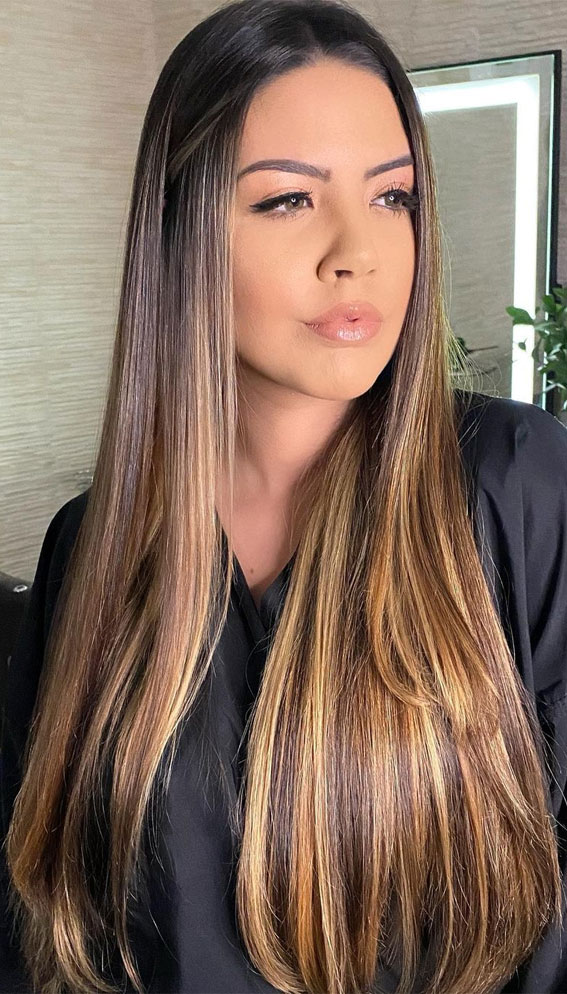Gorgeous Hair Colour Trends For 2021 : Illuminated with contrast