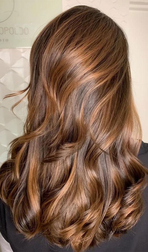 Gorgeous Hair Colour Trends For 2021 : Bright brunette