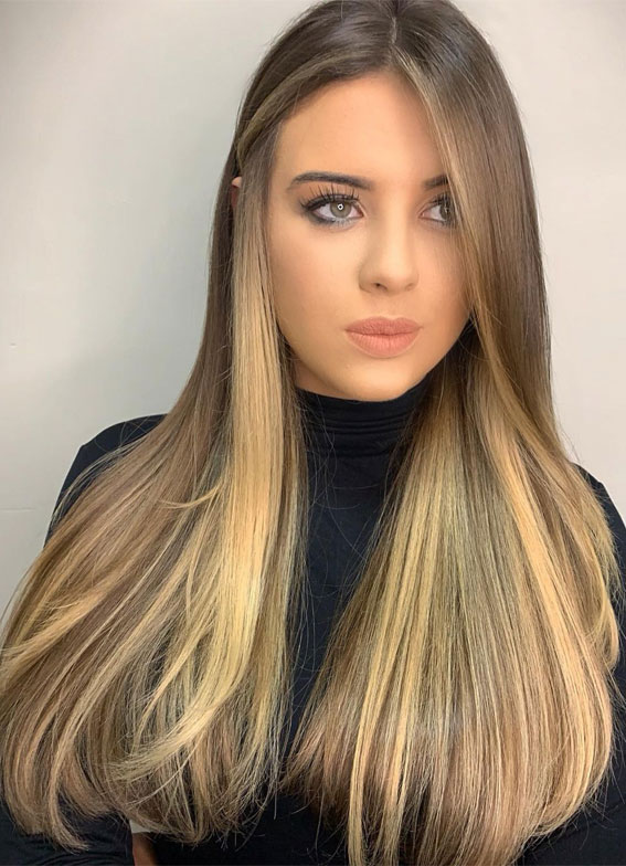 Gorgeous Hair Colour Trends For 2021 : Blonde on brown hair colour